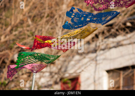 Fluttering Mexican Banner - Stock Photo