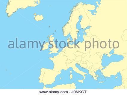 high detailed vector map of Europe. File easy to edit and apply. Elements of this image furnished by NASA - Stock Photo