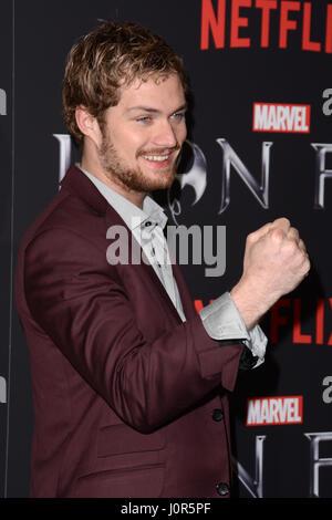 Marvel's 'Iron Fist' New York Screening at AMC Empire 25 Times Square - Red Carpet Arrivals  Featuring: Finn Jones - Stock Photo
