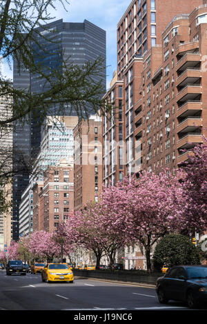 Park Avenue in Midtown Manhattan, NYC, USA - Stock Photo