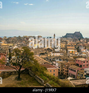 Corfu town from above - Stock Photo