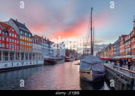 Nyhavn, Copenhagen, Denmark, Scandinavia - Stock Photo