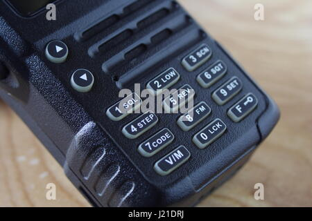 Walkie Talkie Hand Held Keypad - Stock Photo