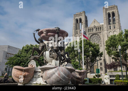 Grace Cathedral, San Francisco, California - Stock Photo