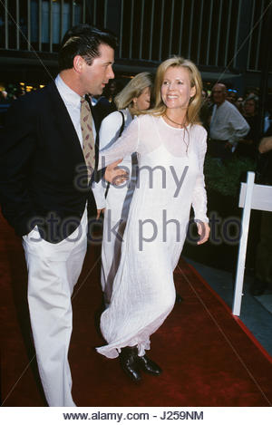 Kim Basinger and Alec Baldwin pictured at the premiere of 'Shadow' at the Ziegfield Theatre in New York City on - Stock Photo