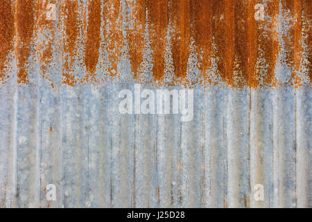 High resolution Rusty corrugated iron texture background. - Stock Photo