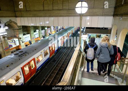 Gloucester Road underground tube station in London, England, UK, Europe - Stock Photo