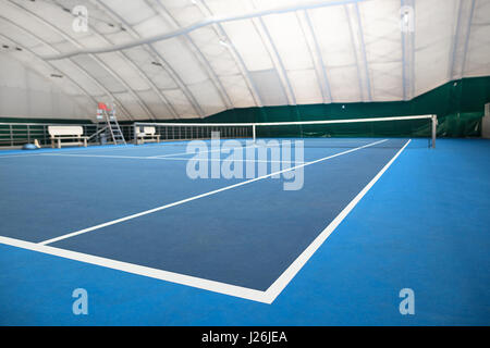 The abstract indoor tennis court - Stock Photo