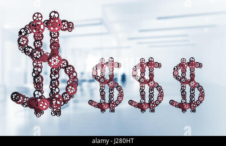 Connections and networking concepts as means of money earning on - Stock Photo