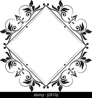 decorative frame vintage elegant flourish image - Stock Photo