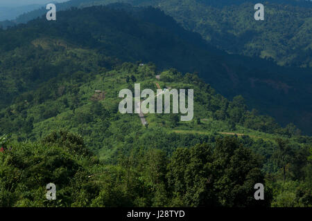 Landscape view of the Nilgiri. It is one of the tallest peaks and beautiful tourist place. Bandarban, Bangladesh. - Stock Photo