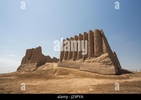 Turkmenistan, Ancient city of Merv, Great Kyz-Kala (House of the Forty Women) - Stock Photo