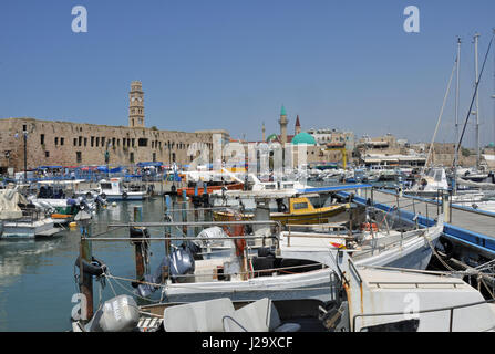 The harbour of Acre, Israel. - Stock Photo