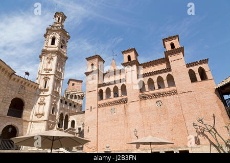 Plaza Mayor at Poble Espanyol in Palma de Mallorca, Spain - Stock Photo