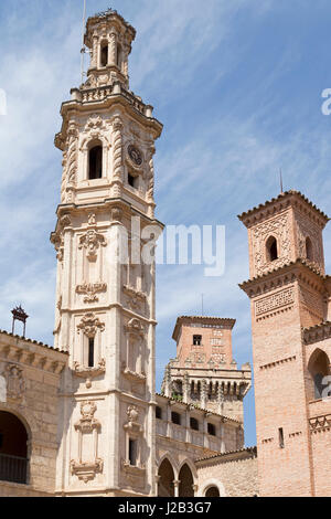 Plaza Mayor at Poble Espanyol in Palma de Mallorca, Spain - Stock Photo