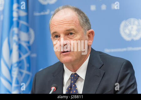 New York, United States. 26th Apr, 2017. In conjunction with his two days of meetings with United Nation Security - Stock Photo