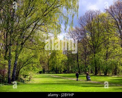 Tiergarten in springtime Berlin, Germany - Stock Photo