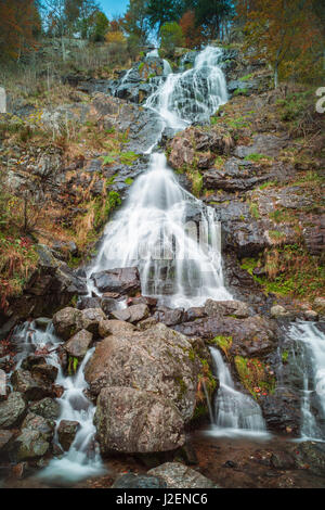 Germany, Baden-Wurttemburg, Black Forest, Todtnau, Todtnau Waterfalls - Stock Photo
