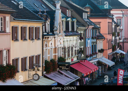 Germany, Baden-Wurttemburg, Black Forest, Gengenbach, town buildings - Stock Photo
