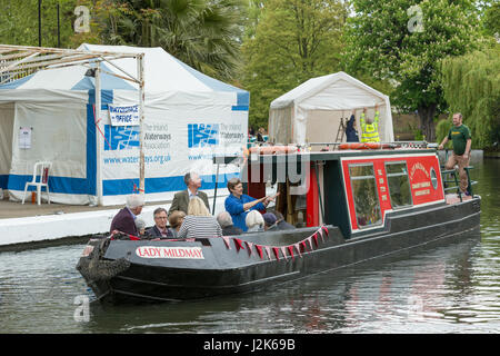 Little Venice, London, UK. 29 April 2017. Inland Waterways Association Canalway Cavalcade returns to the Pool of - Stock Photo
