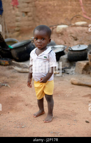 Toddler, Boy, 15 Months, Toeghin Village, Oubritenga Province, Plateau Central, Burkina Faso - Stock Photo