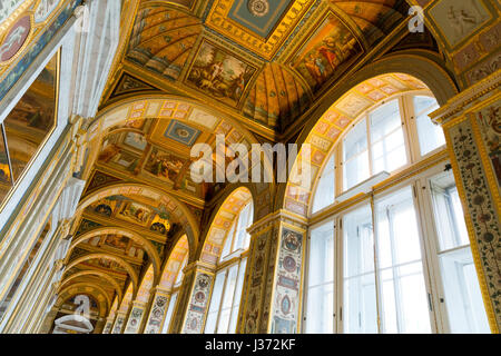 Interior of the Winter Palace, State Hermitage Museum, Saint Petersburg, Russia - Stock Photo