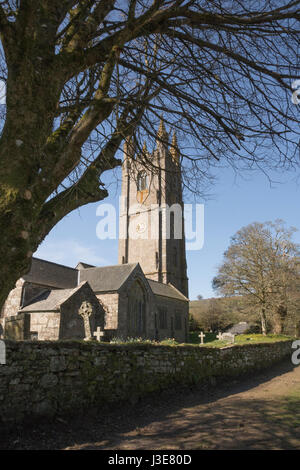 Church of St Pancras, Widecombe in the Moor,  Devon - Stock Photo