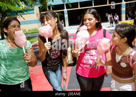 Homestead Florida Robey George Park Outreach Picnic DFYIT Drug Free Youth In Town anti drug addiction Hispanic girl - Stock Photo