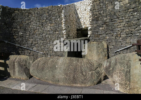 Newgrange - a World Heritage Site by UNESCO - Stock Photo