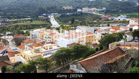 A View from rooftops, Silves in Portugal - Stock Photo