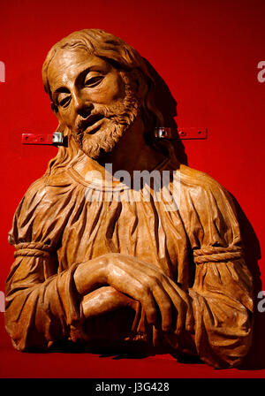 Fano: Show Secret Renaissance: Christ in Piety. Attributed to Benedetto Pietrosco. 1490-1500 - Stock Photo