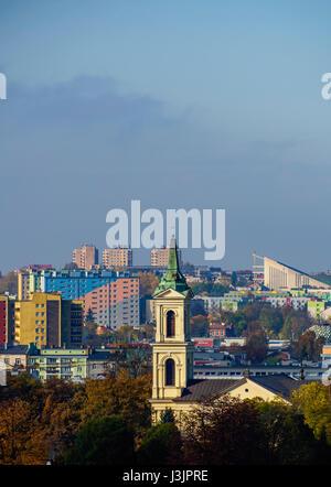 Poland, Swietokrzyskie Voivodeship, Kielce Cityscape - Stock Photo