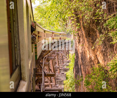 Taking a ride on the death railway - Stock Photo