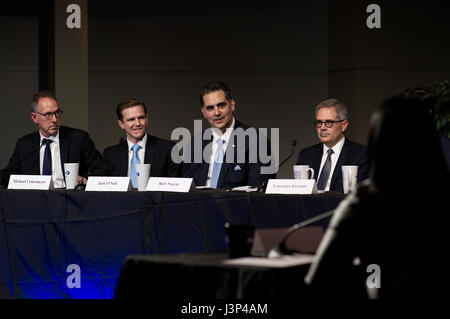 Rich Negrin at the Philadelphia District Attorney Debate at the WHYY Studios, in Philadelphia, PA, on April 27, - Stock Photo