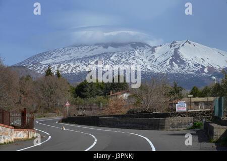 Vulkan, Etna, Sizilien, Italien - Stock Photo
