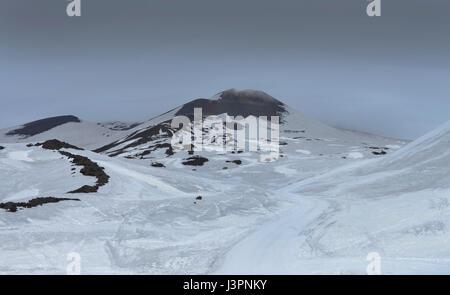 Monte Frumento Supino, Nebenkrater, Etna, Sizilien, Italien - Stock Photo