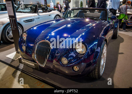 STUTTGART, GERMANY - MARCH 03, 2017: Roadster Wiesmann MF3, 1998. Europe's greatest classic car exhibition 'RETRO - Stock Photo