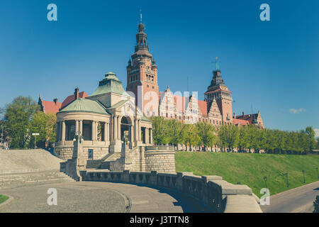 Szczecin - historical architecture / Haken terraces - Stock Photo