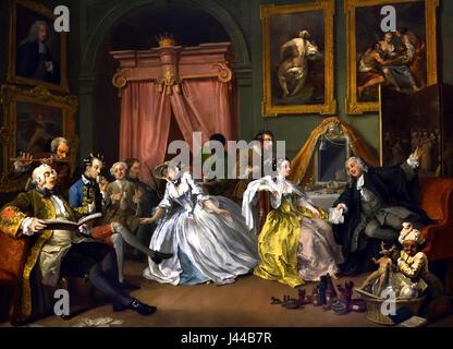 Marriage A-la-Mode: 4, The Toilette 1743 William Hogarth 1697 - 1764 United Kingdom, England, English, British, - Stock Photo