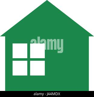 Green building house - Stock Photo