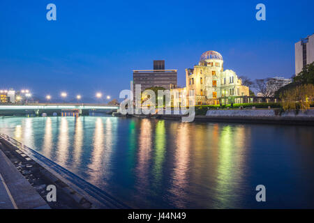 Atomic Bomb Dome in Hiroshima, Japan. - Stock Photo