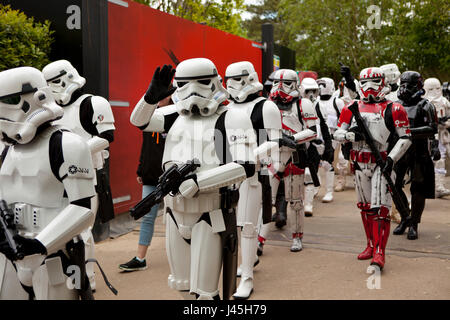 National Star Wars day parade at Legoland UK Berkshire - Stock Photo