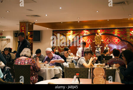 Golden Dragon Restaurant in Chinatown, London UK - Stock Photo