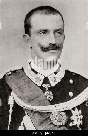 Victor Emmanuel III, 1869 – 1947.  King of Italy.  From Hutchinson's History of the Nations, published 1915. - Stock Photo