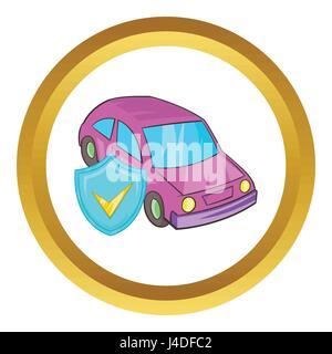 Car insurance vector icon - Stock Photo