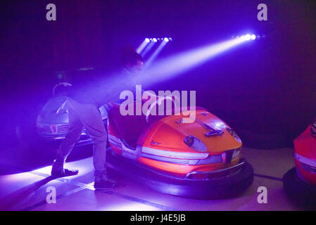 Southwark, London, UK. 12th May 2017. Drive Dead Slow, Dodgems of your Mind, the first artist designed bumper car - Stock Photo