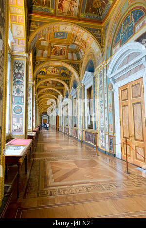 Interior of the Winter Palace, State Hermitage Museum, UNESCO World Heritage Site, St. Petersburg, Russia, Europe - Stock Photo