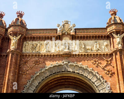Arc de Triomf, Barcelona, Spain. - Stock Photo