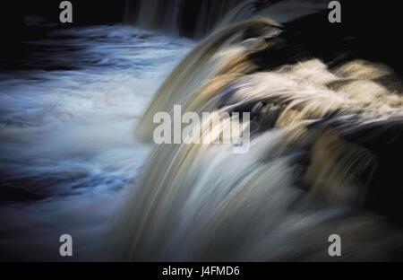 Aysgarth Falls, Wensleydale.Yorkshire Dales. U.K. - Stock Photo