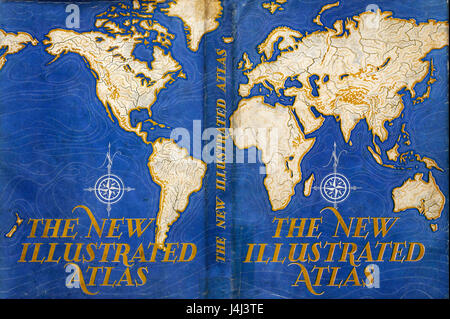 Illustration of atlas map - Stock Photo